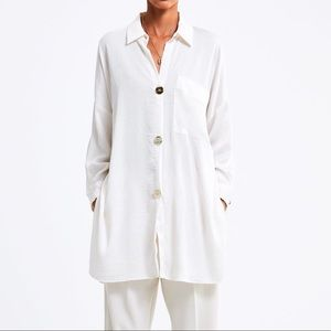 ZARA Oversized Blouse with gold buttons